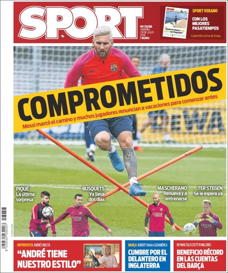 Sport Portada 29.07.16