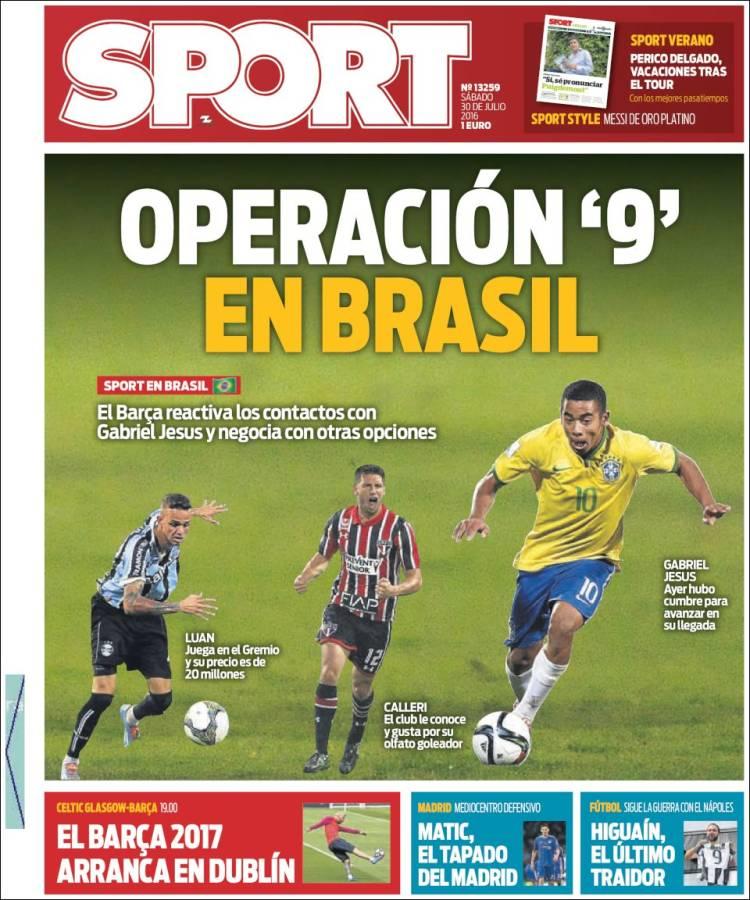 Sport Portada 30.07.16