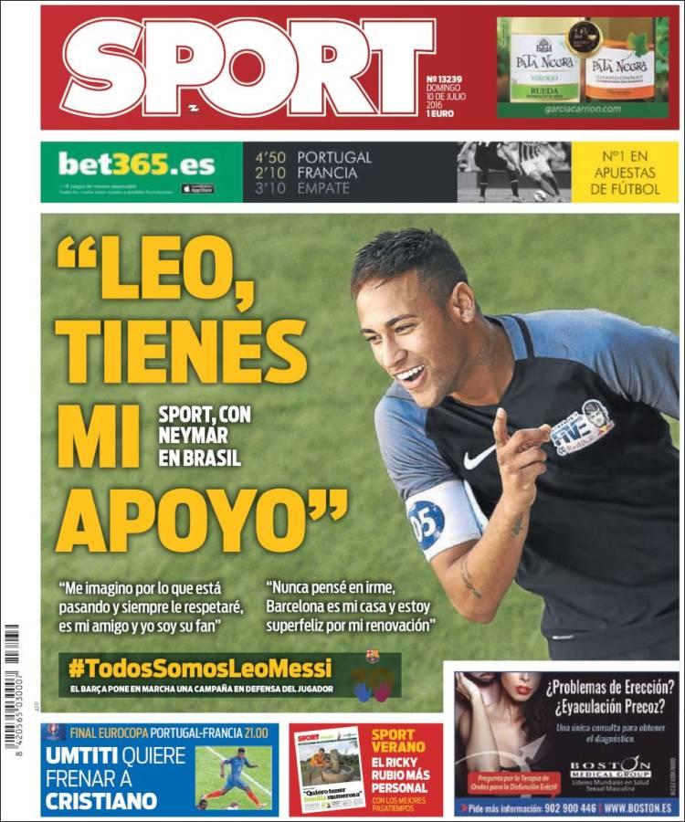 Sport Portada 10.07.16