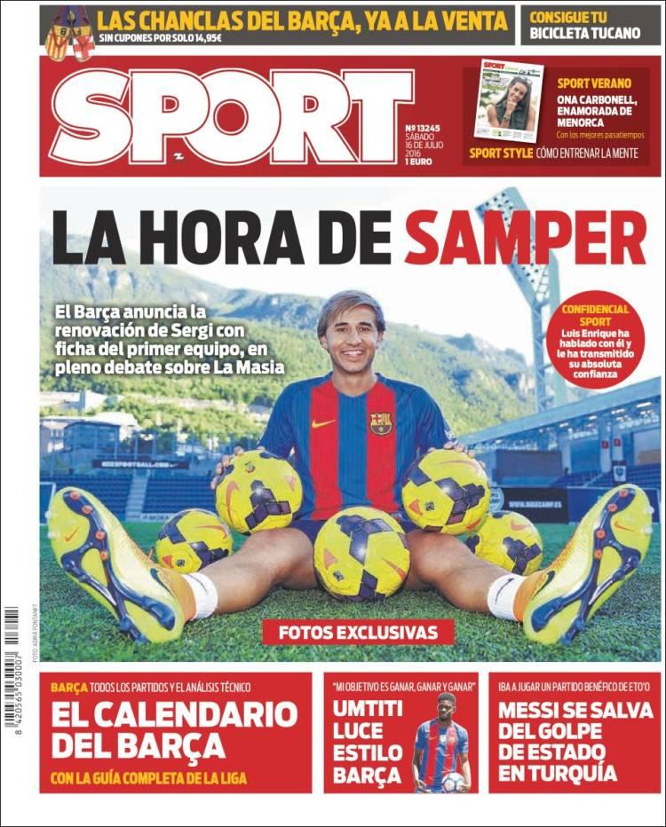 Sport Portada Samper 16.07.16