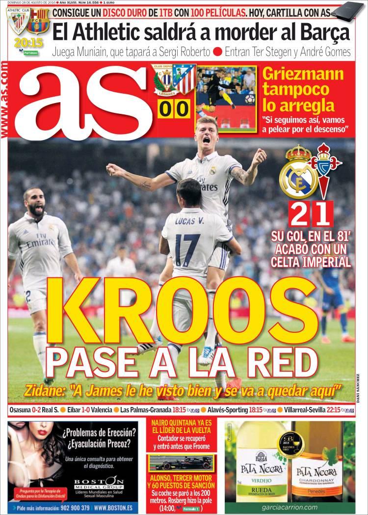 As Portada Kroos 28-08-16