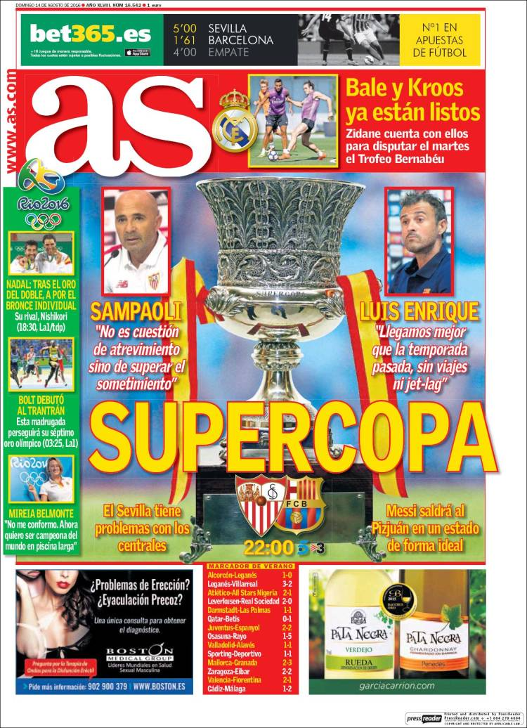As Portada Supercopa 14.08.16