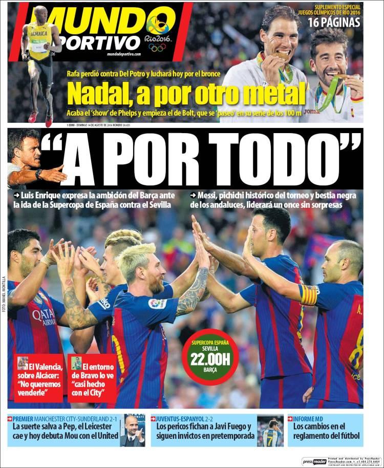Mundo Deportivo Portada 14.08.16