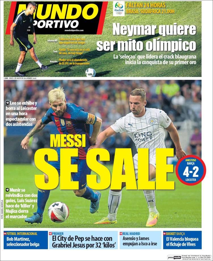 Mundo Deportivo Portada 04.08.16