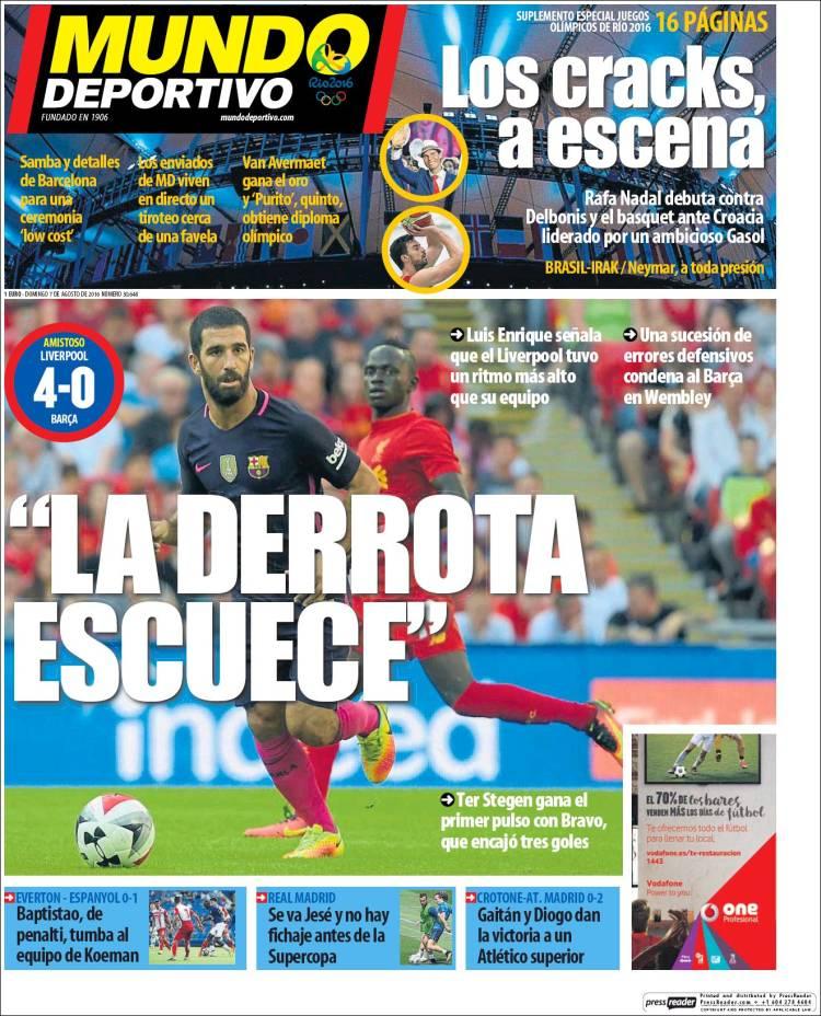 Mundo Deportivo Portada 07.08.16