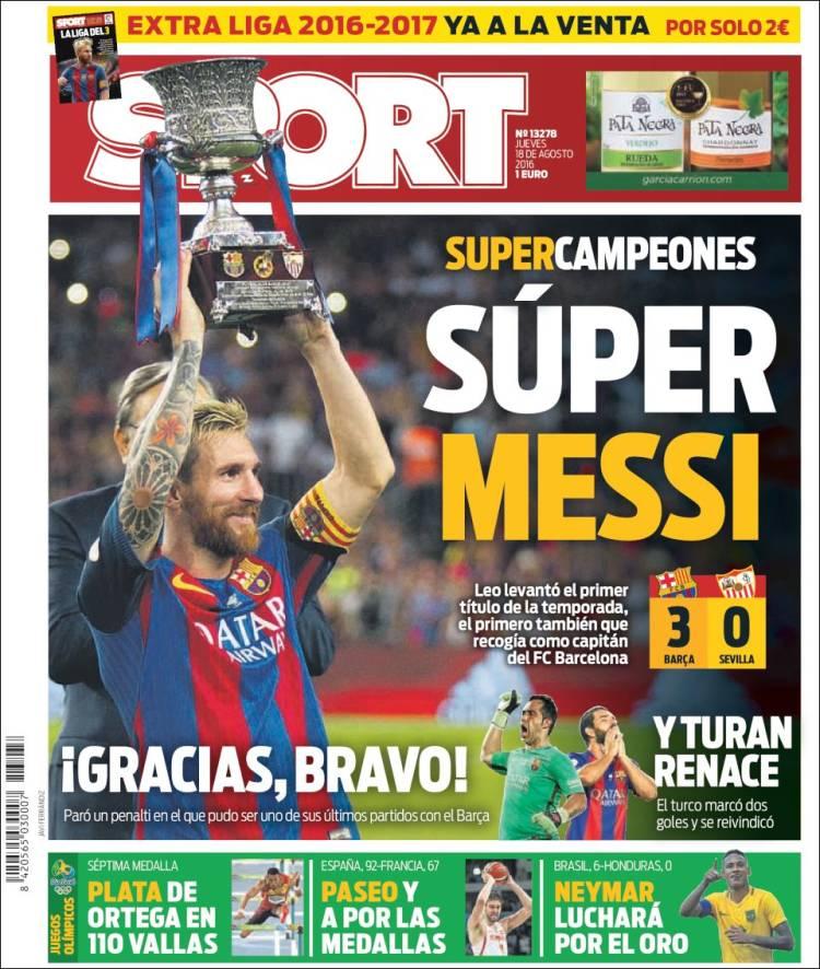 Sport Portada Messi 18.08.16