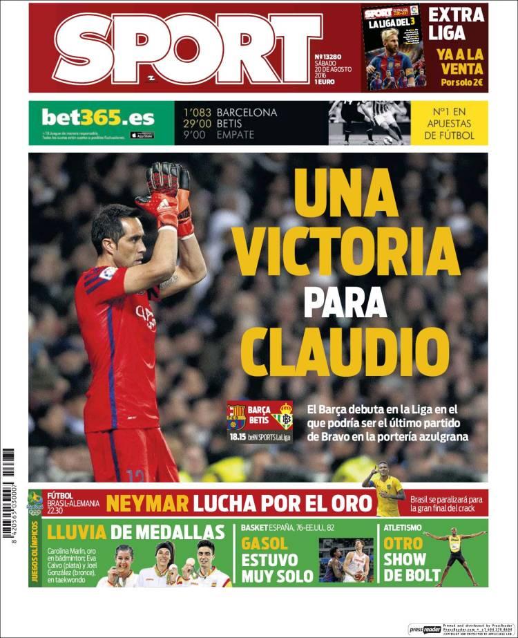 Sport Portada 20.08.16
