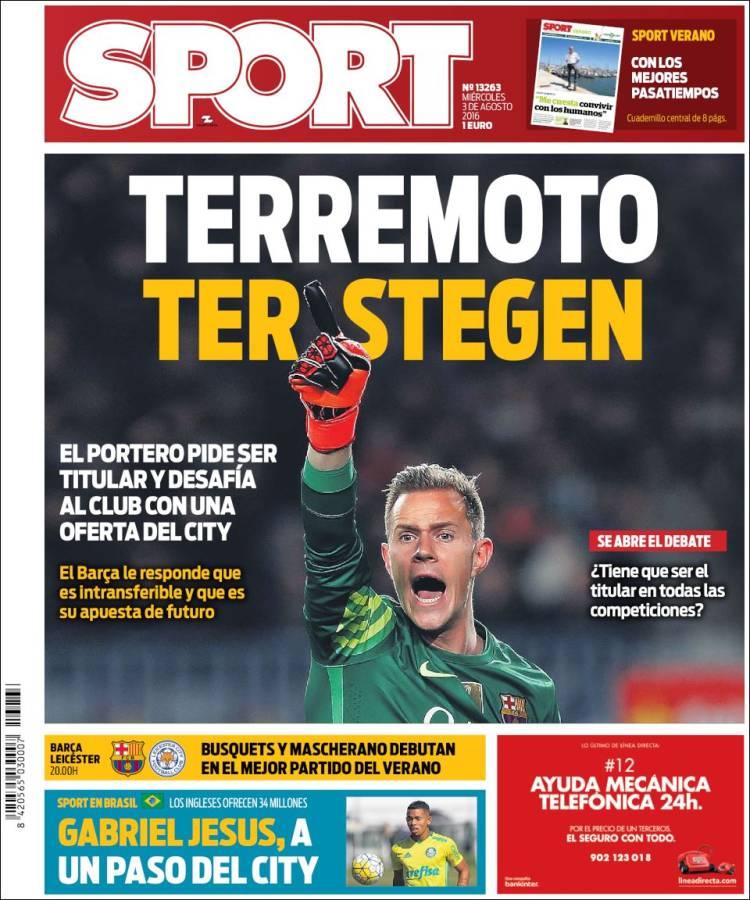 Sport Portada Stegen 03.08.16