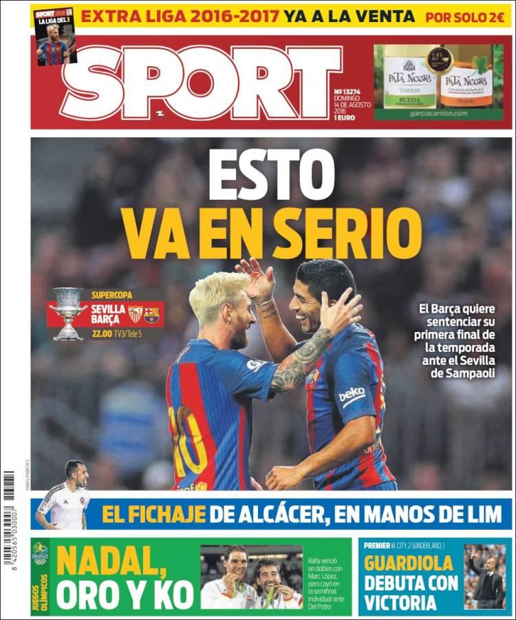 Sport Portada 14.08.16