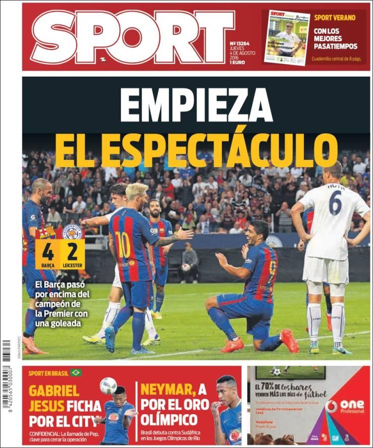Sport Portada 04.08.16