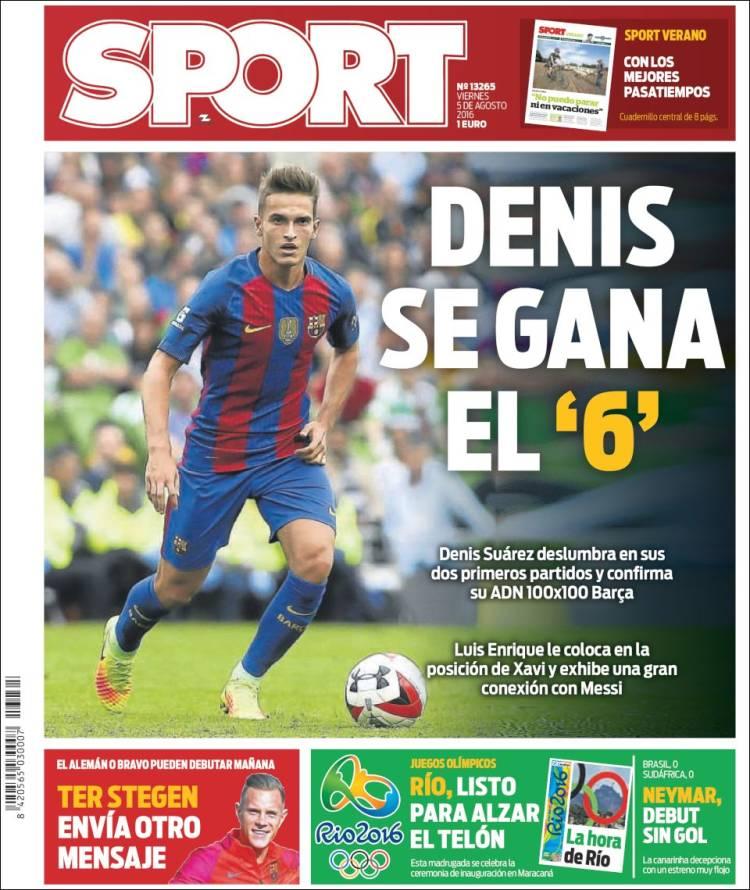 Sport Portada Denis 05.08.16