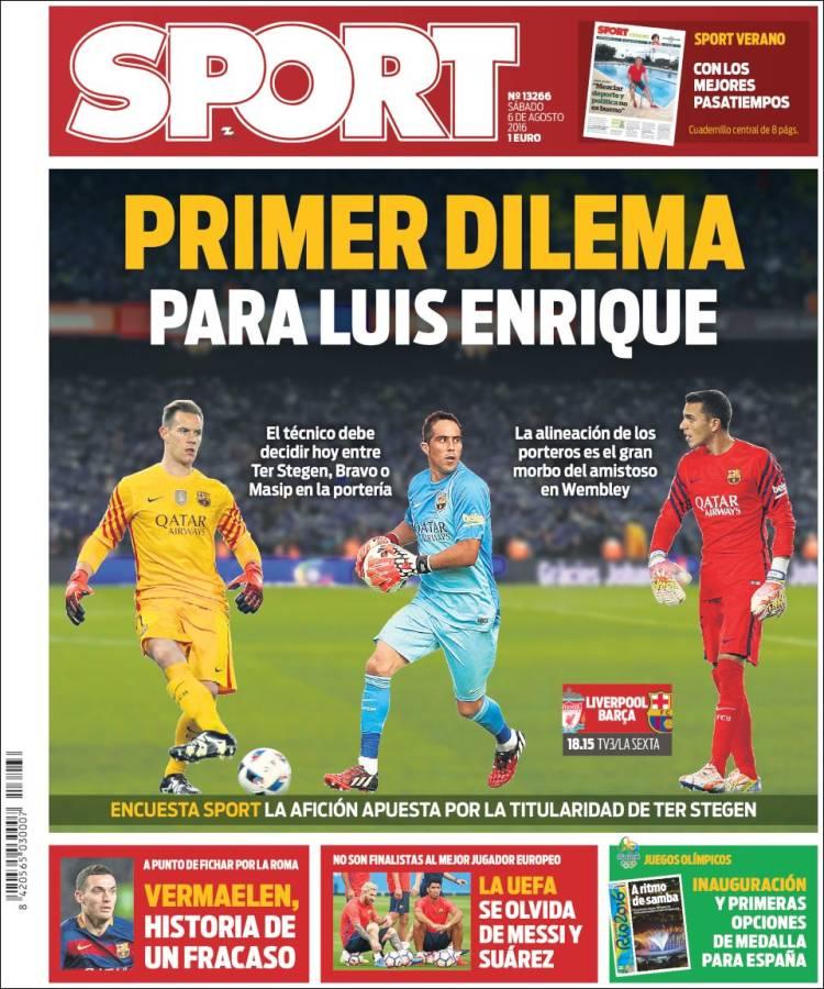 Sport Portada 06.08.16