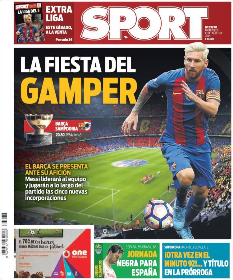 Sport Portada Supercopa 10.08.16