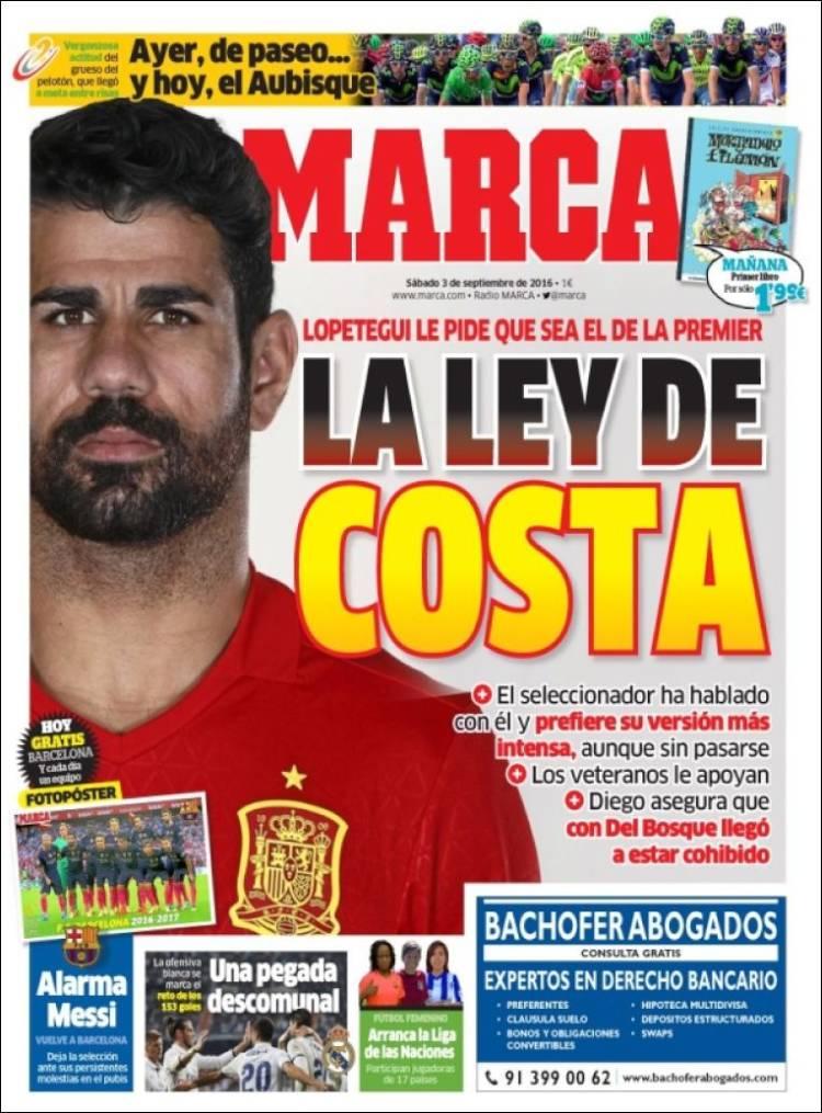 Marca Portada Diego Costa 03.09.16