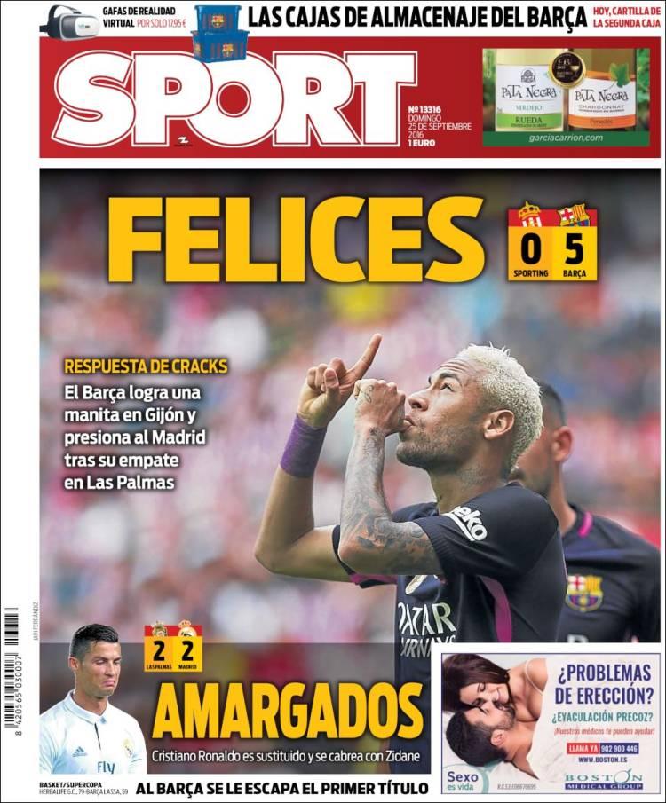 Sport Portada amargados 25.09.16