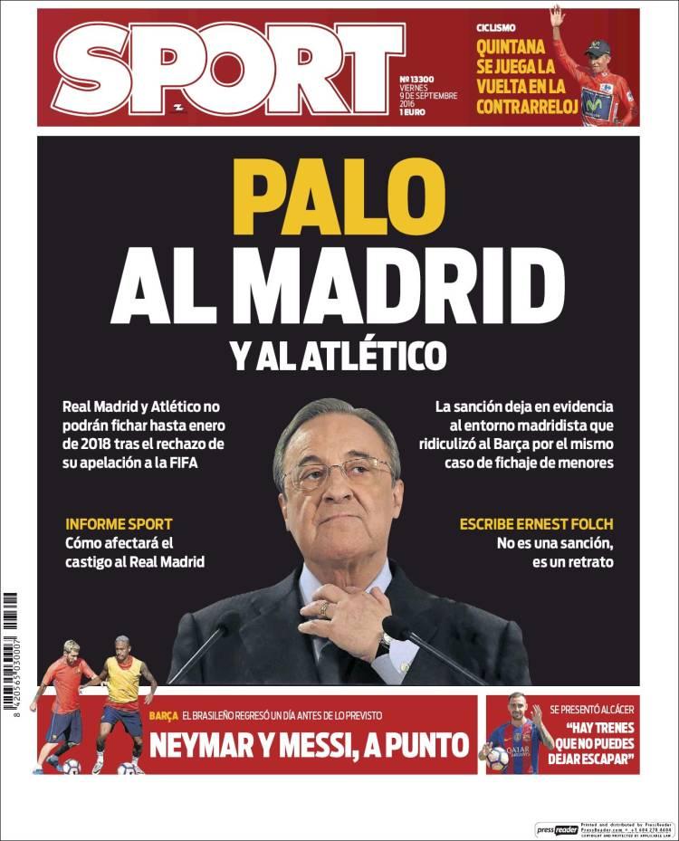 Sport Portada Palo 09.09.16
