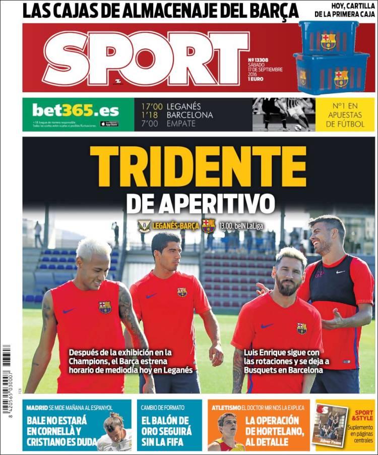 Sport Portada Tridente 17.09.16