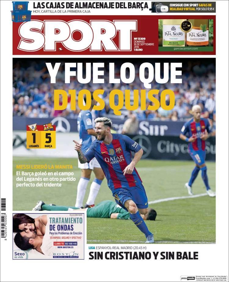 Sport Portada Dios 18.09.16