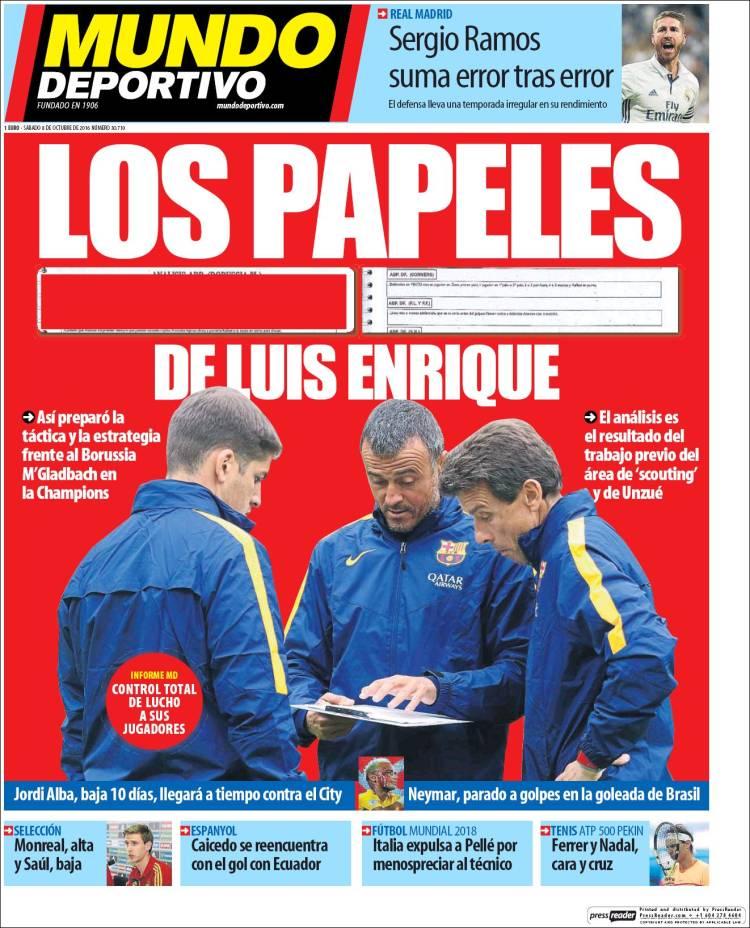 Mundo Deportivo Portada 08.10.16