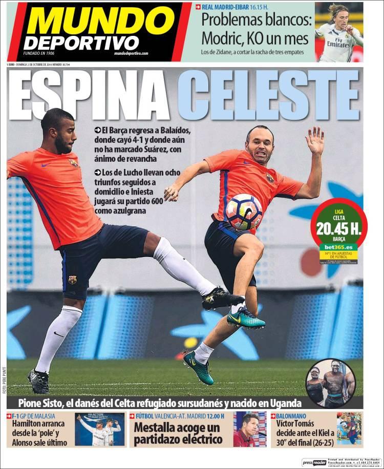 Mundo Deportivo Portada 02.10.16