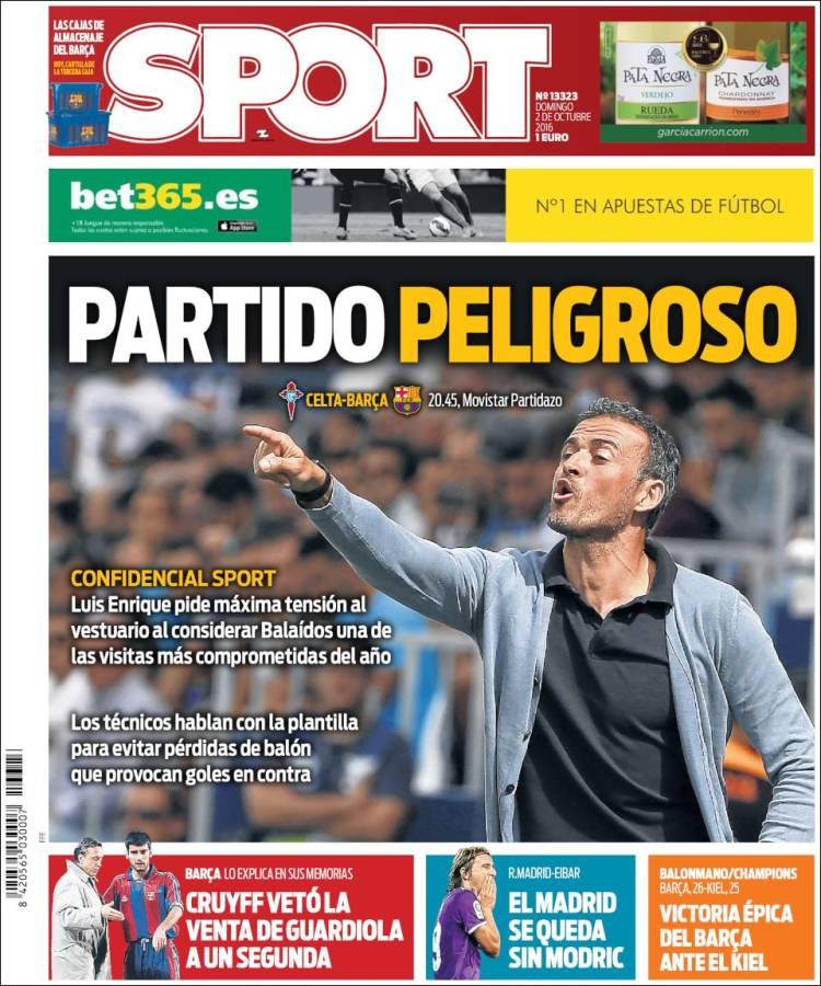 Sport Portada 02.10.16