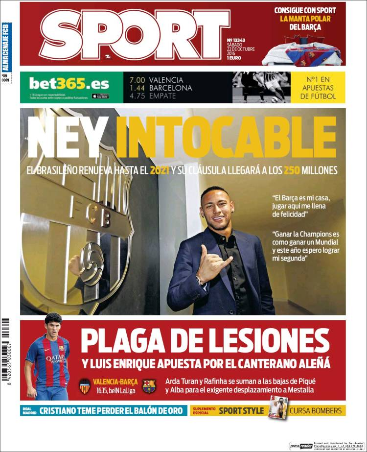 Sport Portada Ney 22.10.16