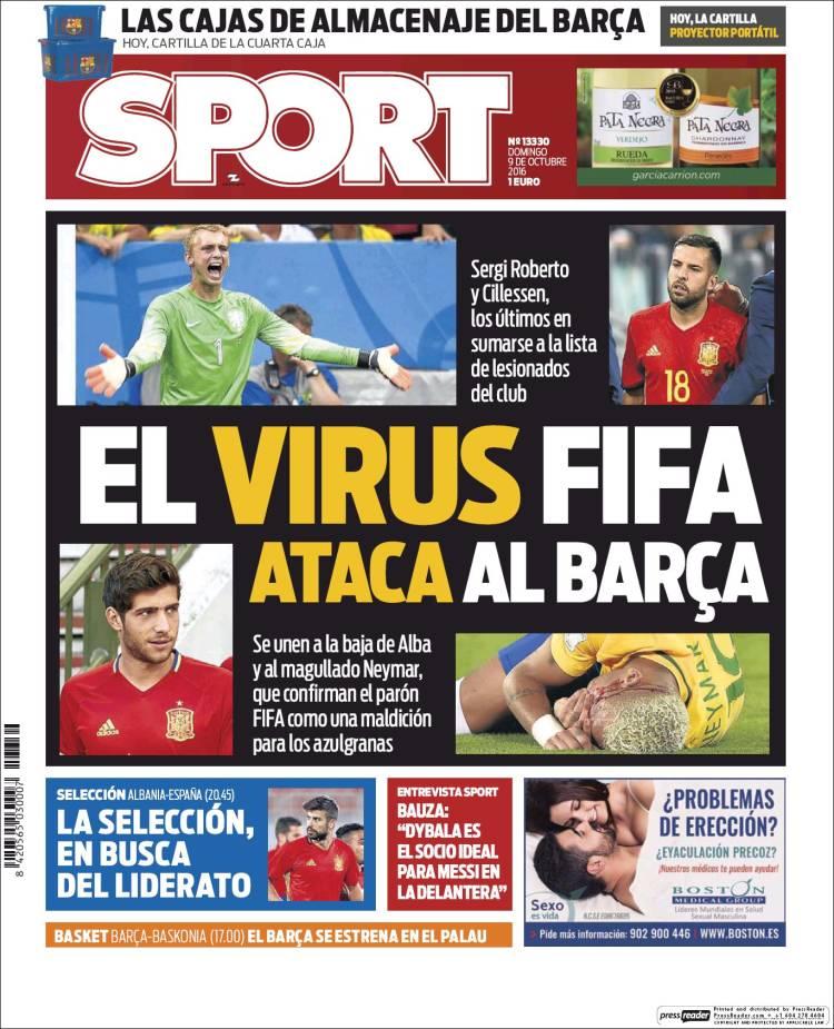 Sport Portada virus FIFA 09.10.16