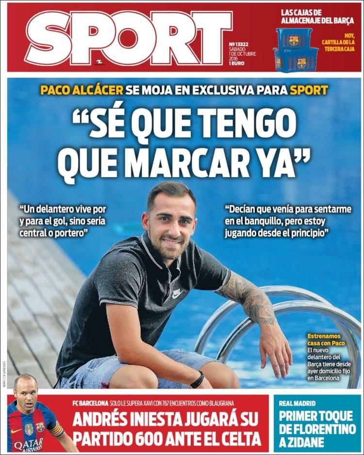 Sport Portada Alcácer 01.10.16