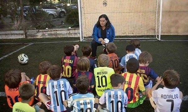 Messi Cristiano niños