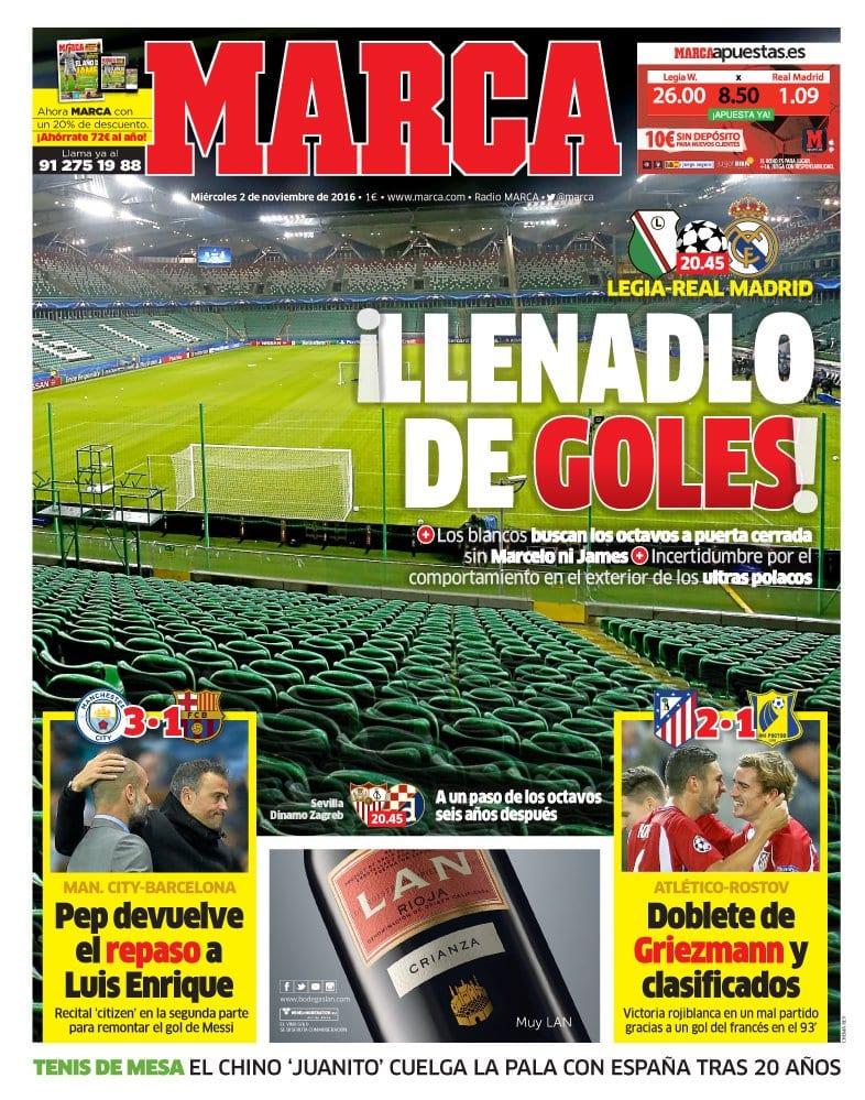 Real Madrid, a puerta cerrada (Marca)