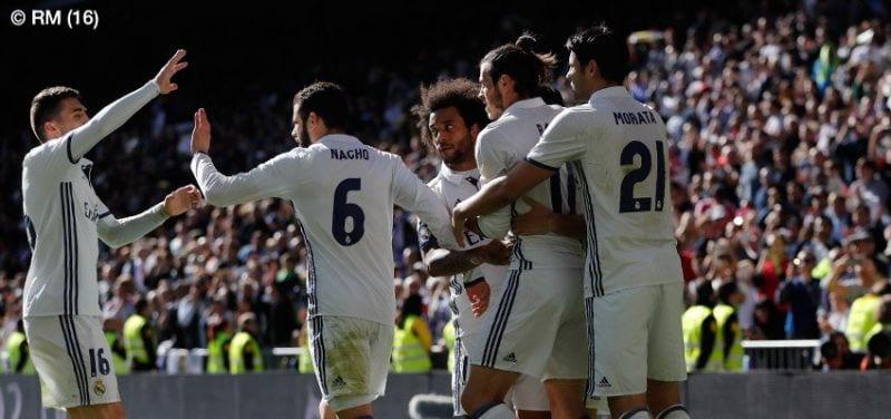 Gareth Bale abrió el marcador (Foto Real Madrid)