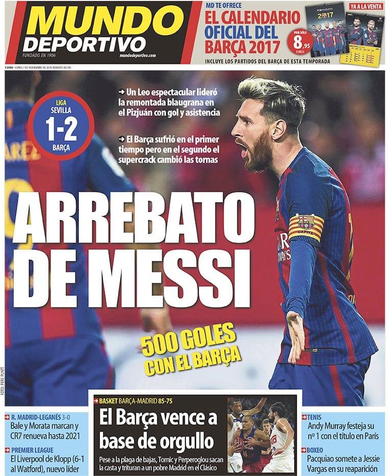 Arrebato de Messi (Mundo Deportivo)