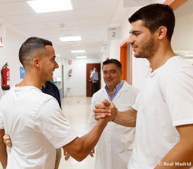 Lucas Vázquez y Álvaro Morata (Foto Real Madrid)