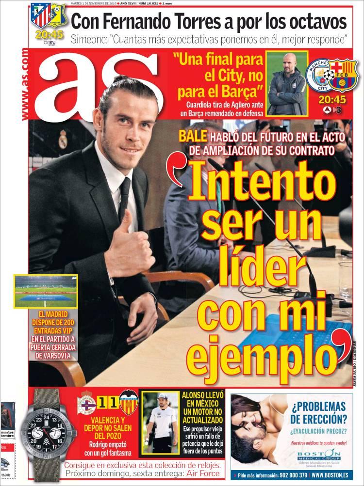As Portada Bale 01.11.16