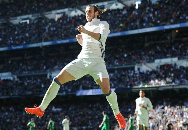 Gareth Bale celebra ante el Leganés (Foto Goal.com)