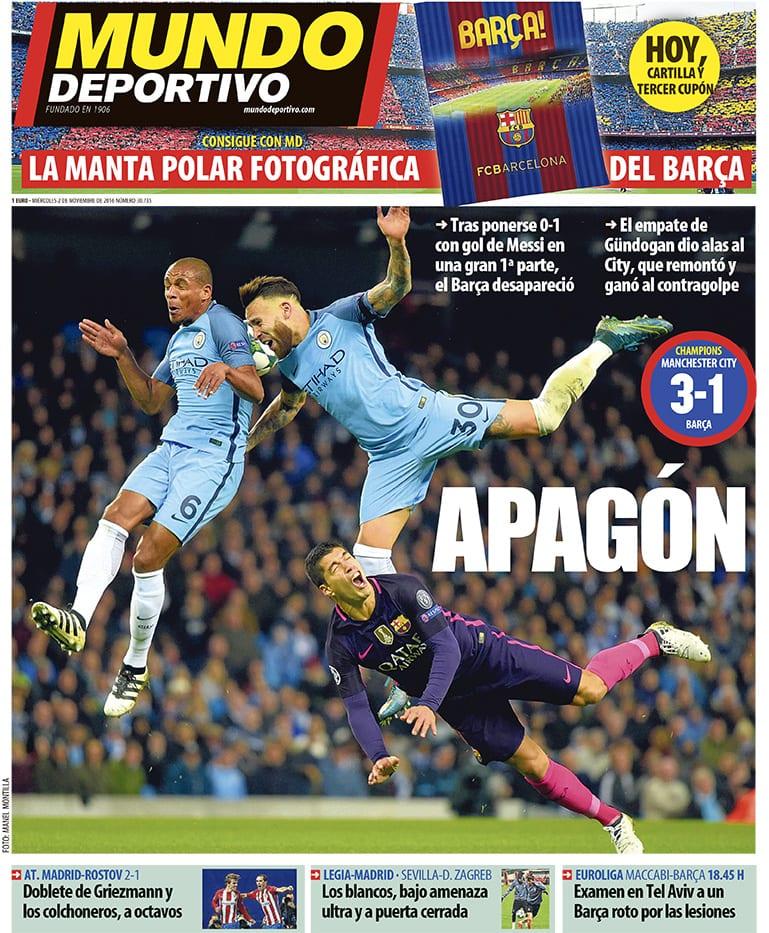 Apagón del Barcelona en Manchester