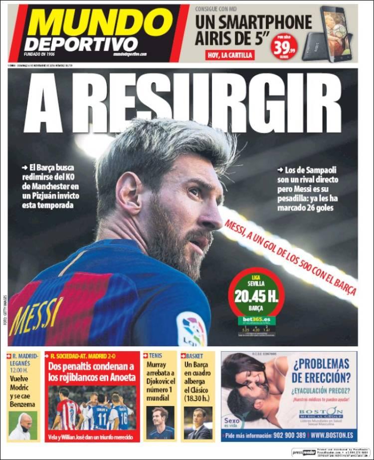 Mundo Deportivo Portada Messi 06.11.16