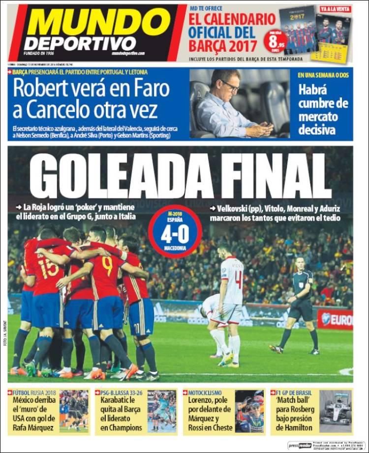 Mundo Deportivo Portada 13.11.16