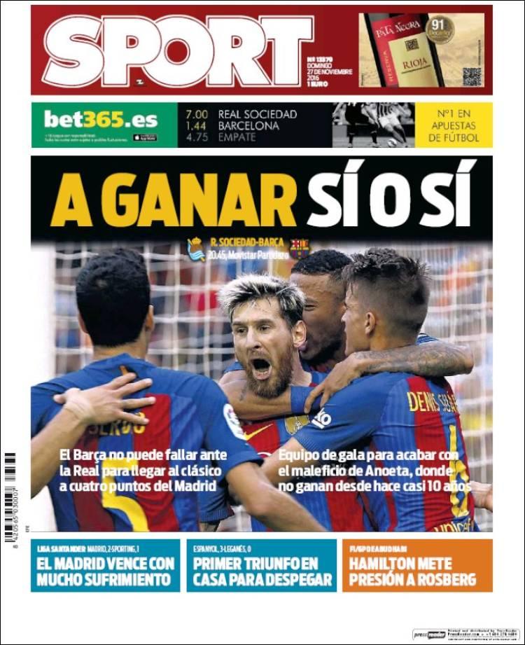 Sport Portada 27.11.16
