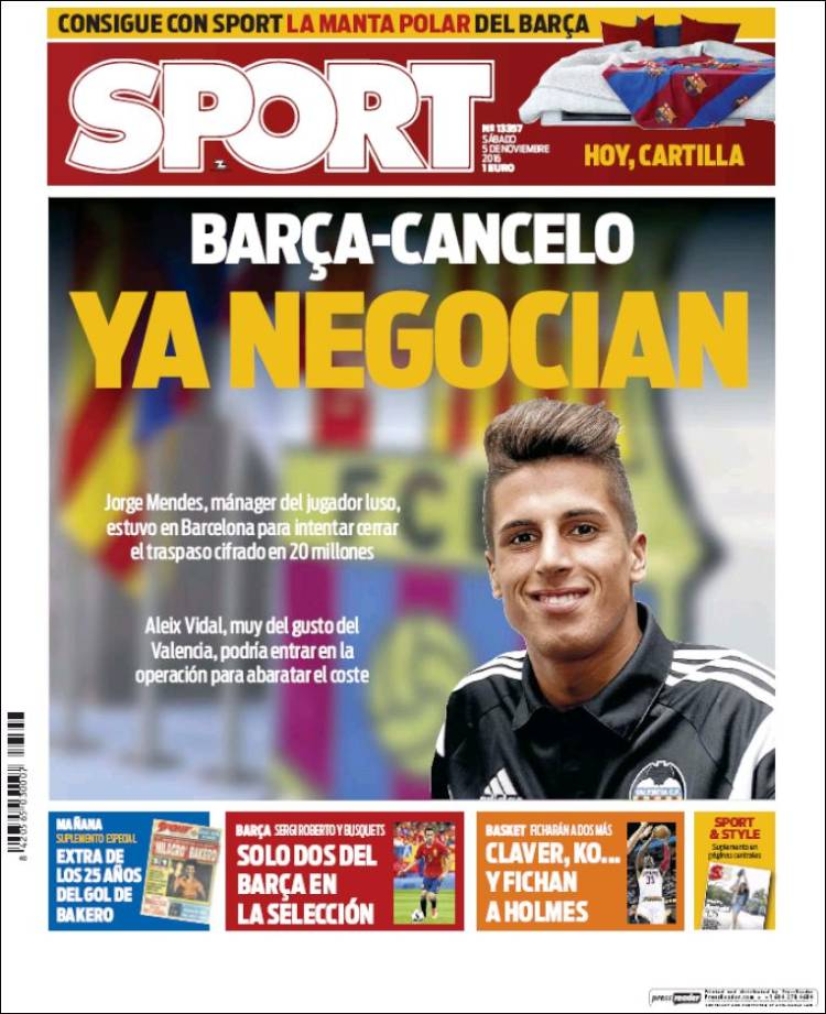 Sport Portada Cancelo 05.11.16