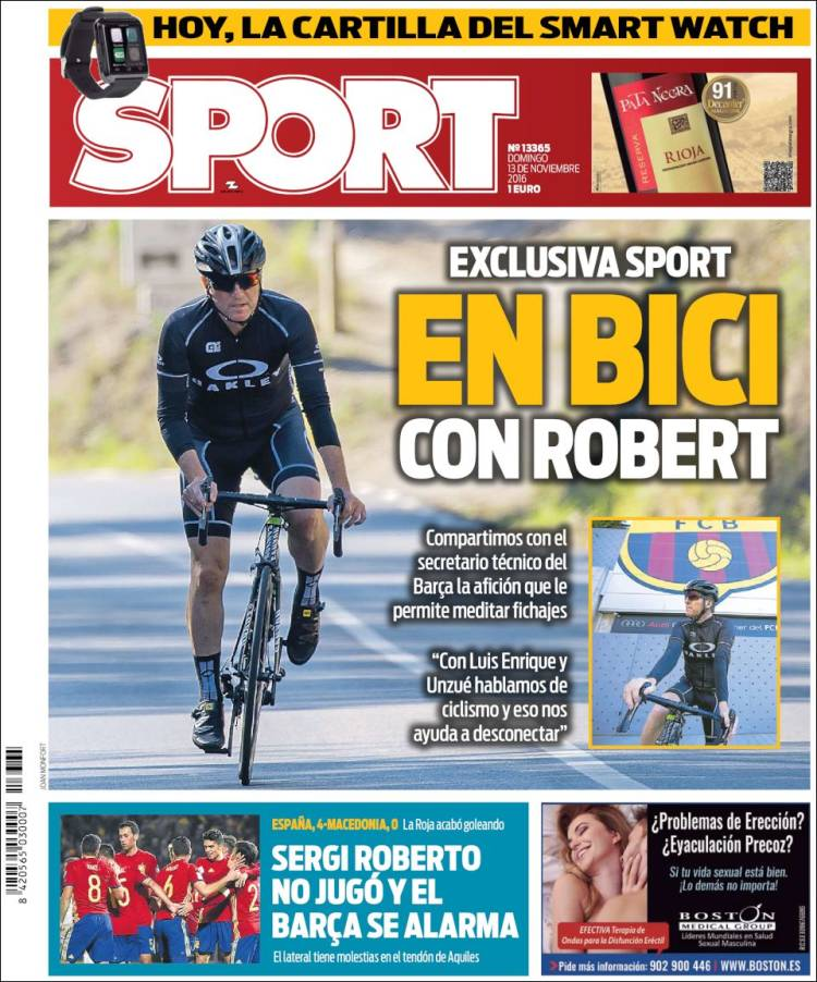 Sport Portada Robert en bici 13.11.16