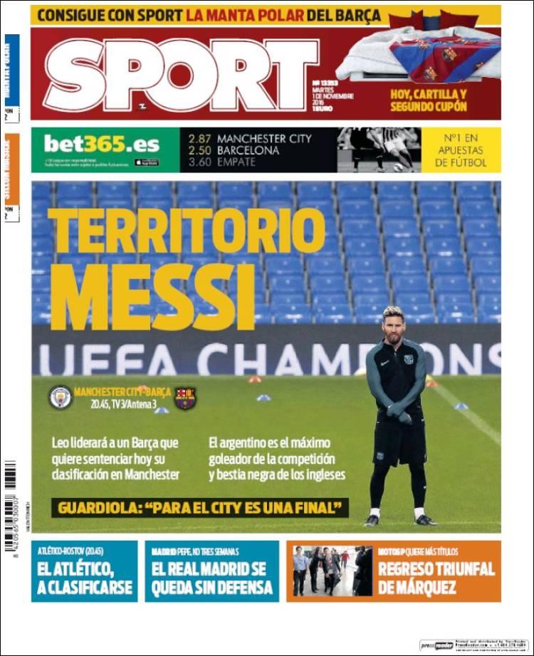 Sport Portada territorio Messi 01.11.16