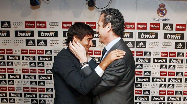 Raúl González y Jorge Valdano (Foto Marca)