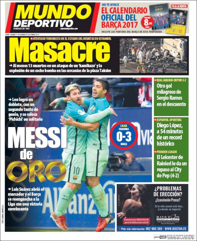 Mundo Deportivo Portada Diferencias 08.12.16