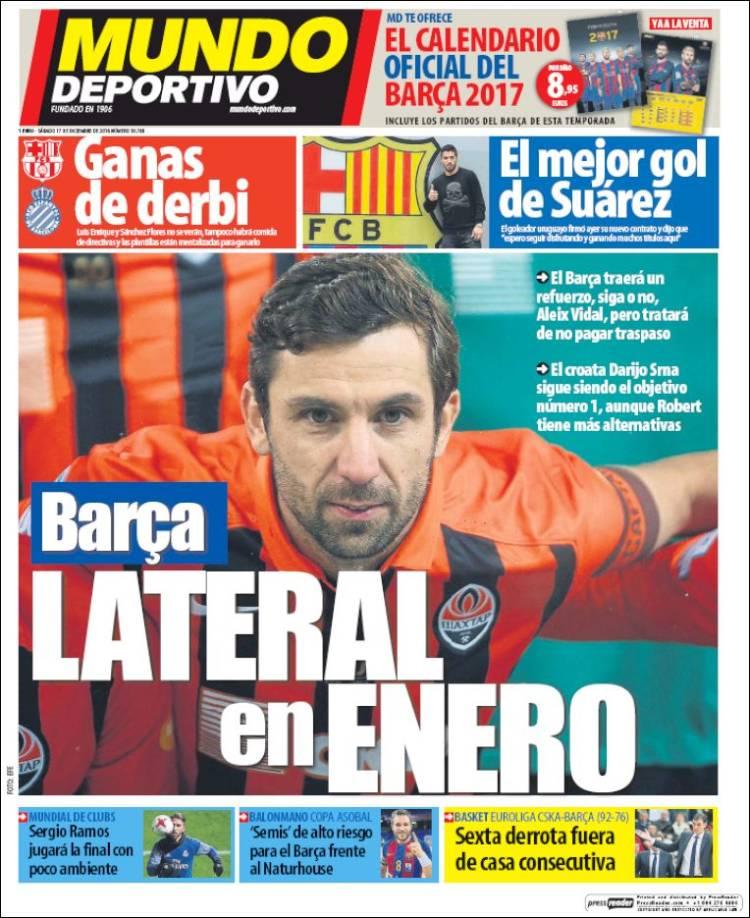 Mundo Deportivo Portada Lateral 17.12.16