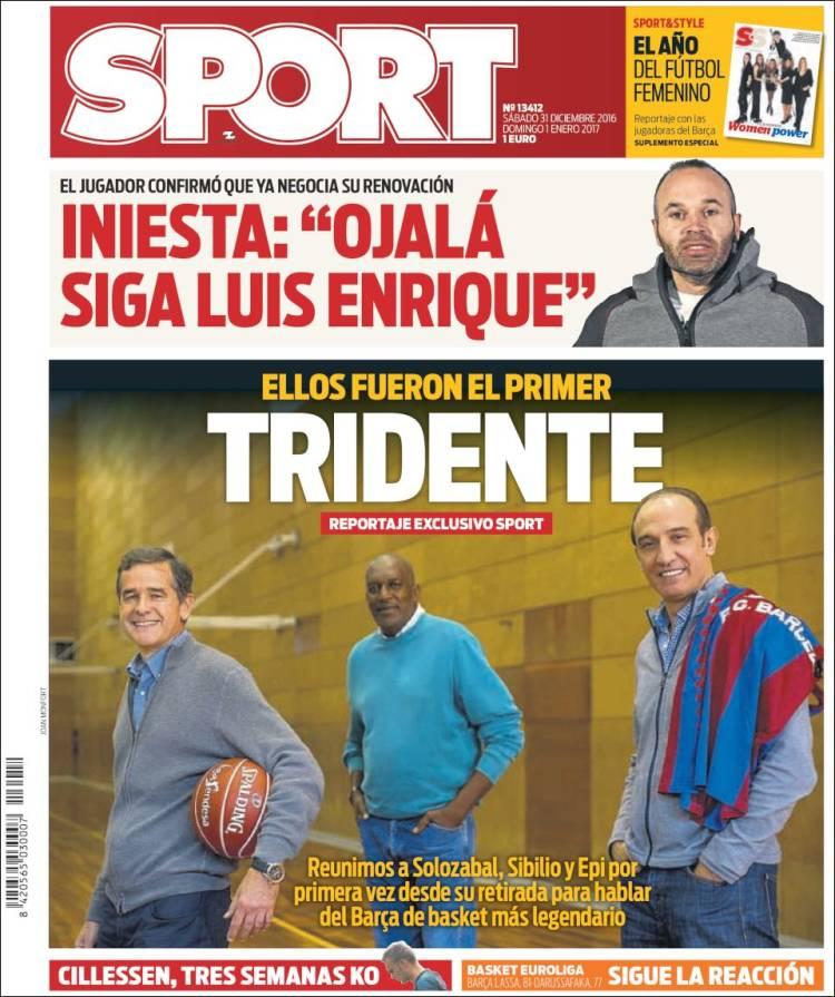 Sport Portada Tridente 31.12.16