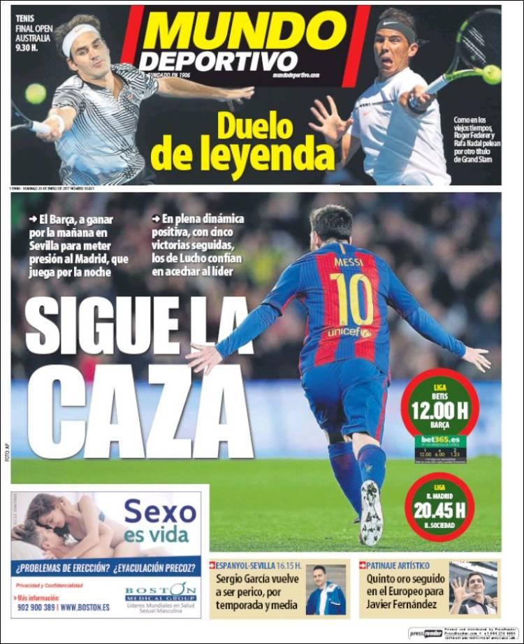 Mundo Deportivo Caza 29.01.17