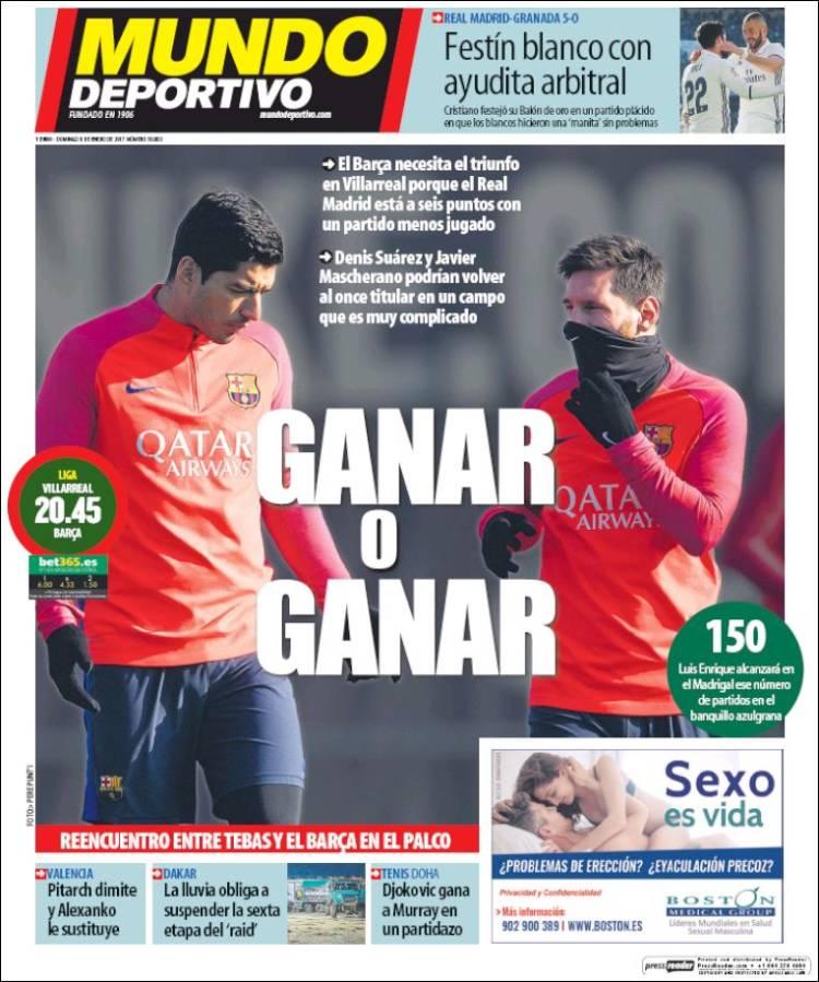 Mundo Deportivo Ganar 08.01.17