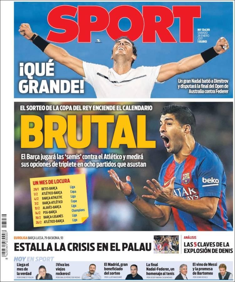 Sport Portada Sport 28.01.17
