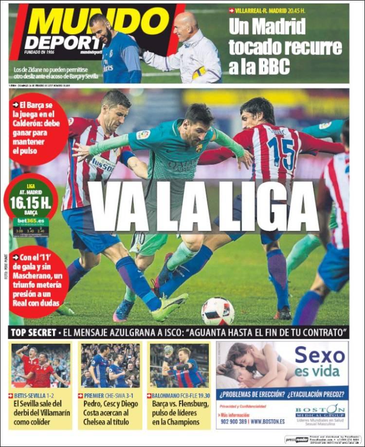Mundo Deportivo Portada Liga 26.02.17
